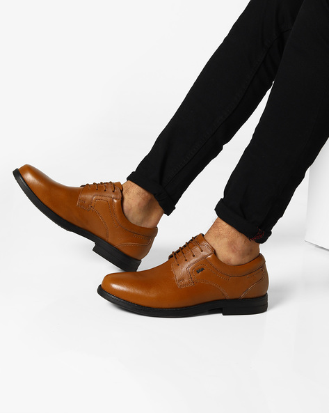 Genuine Leather Derby Shoes By Lee Cooper ( Tan )