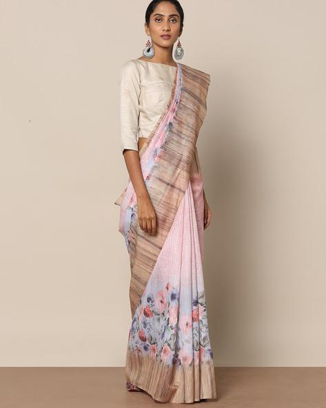 Textured Printed Designer Saree By Rudrakaashe-MSU ( Lightblue )
