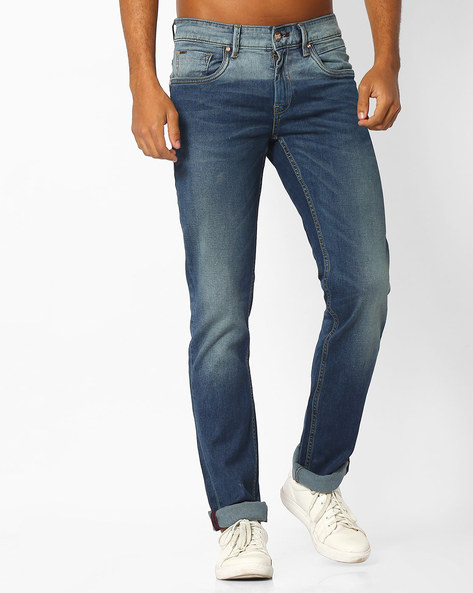 Skinny Fit Stretch Jeans By BASICS ( Blue )