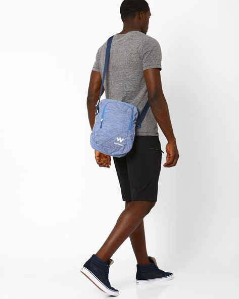 Printed Messenger Bag By Wildcraft ( Lightblue )
