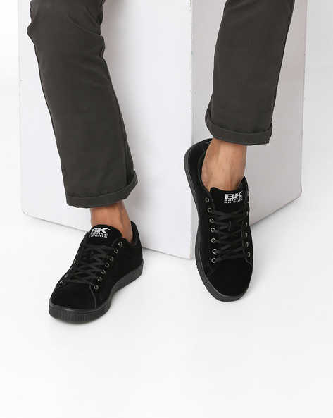 Suede Casual Shoes By British Knights ( Black )