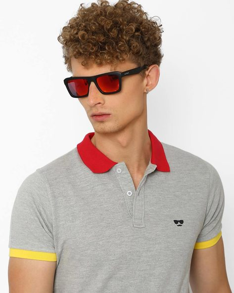 Gradient Round Sunglasses By Joe Black ( Red )