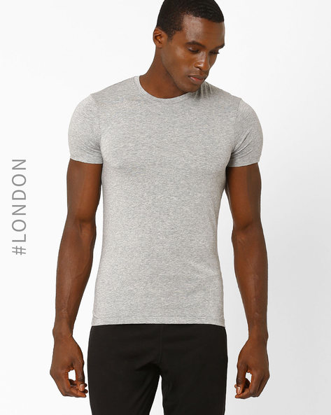Stay Soft Supima Cotton Lounge T-shirt By Marks & Spencer ( Greymelange )
