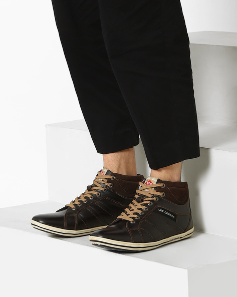 Geniune Leather Lace-Ups By Lee Cooper ( Brown )
