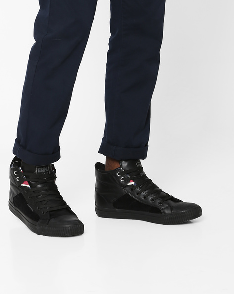 Mid-Top Casual Shoes By British Knights ( Black )