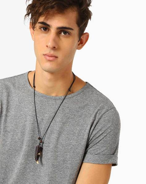 Leather Cord Necklace By ALPHA MAN ( Multicolor )