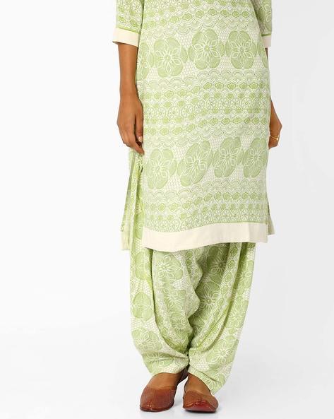 Printed Salwar Pants By AJIO ( Green )