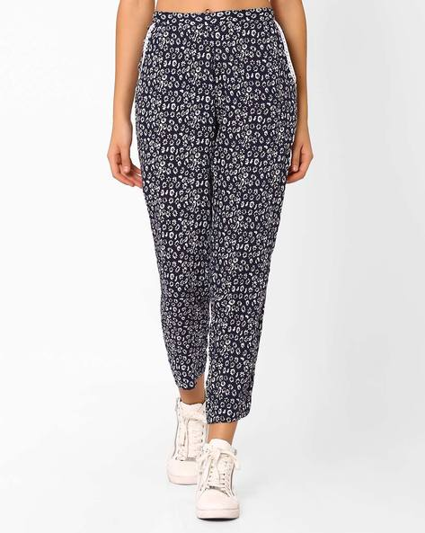 Floral Print Cropped Trousers By ANONYMOUS CO ( Brtmulti )