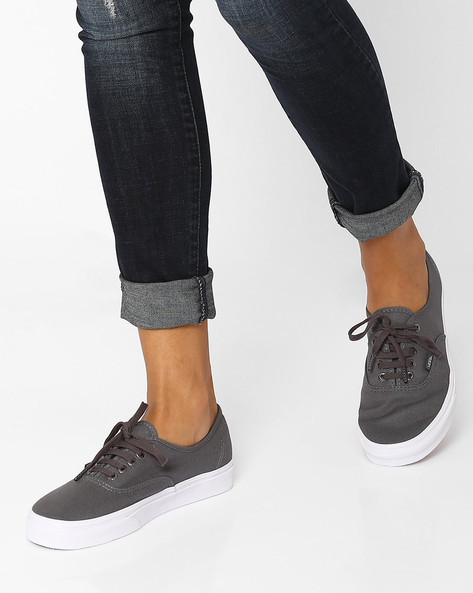Authentic Canvas Casual Shoes By Vans ( Grey )