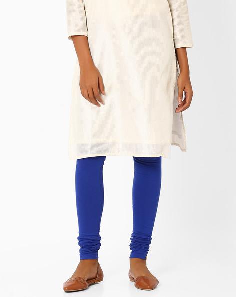 Cotton Churidar Leggings By AURELIA ( Blue )