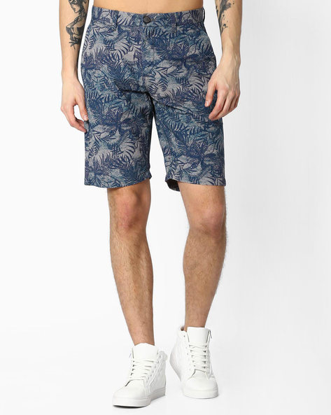 Tropical Print Cotton Shorts By US POLO ( Assorted ) - 440759977002