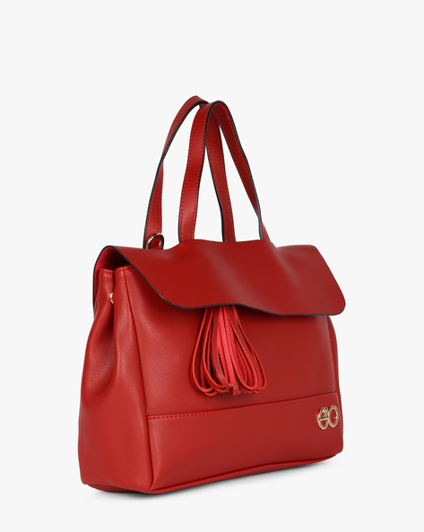 Satchel Bag With Detachable Sling By E2O ( Maroon )
