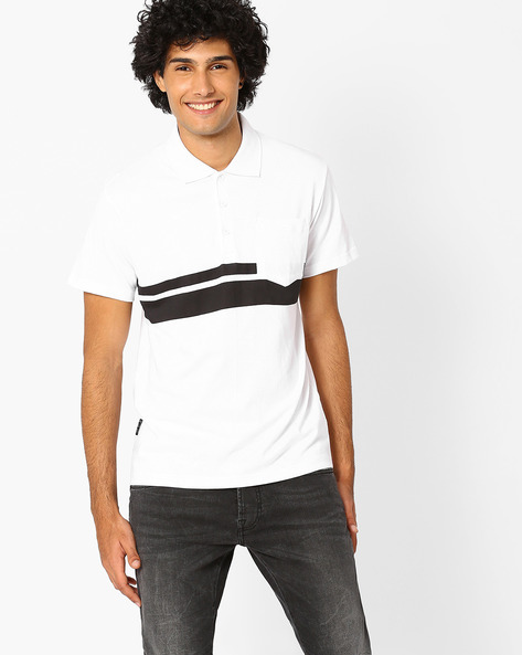 Slim Polo T-shirt With Patch Pocket By Blue Saint ( Multi )