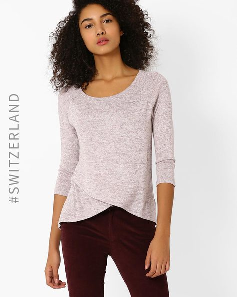 Knitted T-shirt With Raglan Sleeves By TALLY WEiJL ( Lightpink )