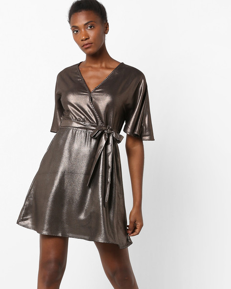 Mini Dress With Surplice Neckline By Oxolloxo ( Black )