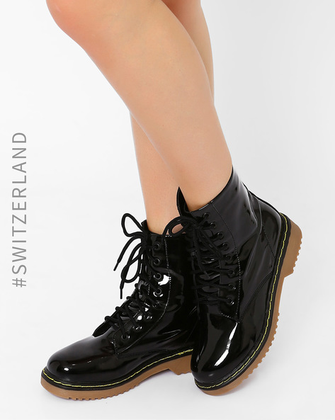 Lace-Up Ankle Boots By TALLY WEiJL ( Black )