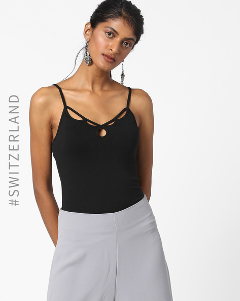 Strappy Top With Cut-Outs By TALLY WEiJL ( Black )