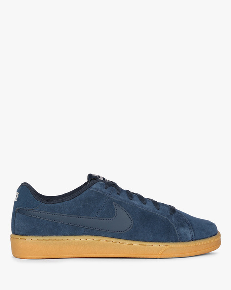 Panelled Sneakers With Lace-Up Fastening By NIKE ( Navy )