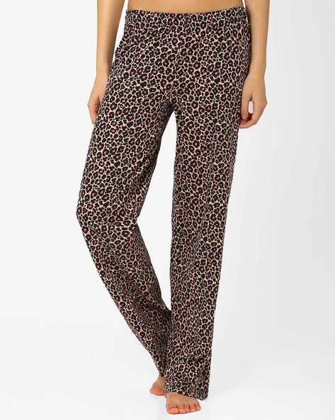 Printed Lounge Pants By PrettySecrets ( Brown )