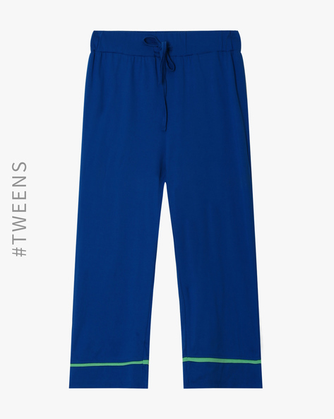 Cotton Lounge Track Pants By AJIO ( Blue )