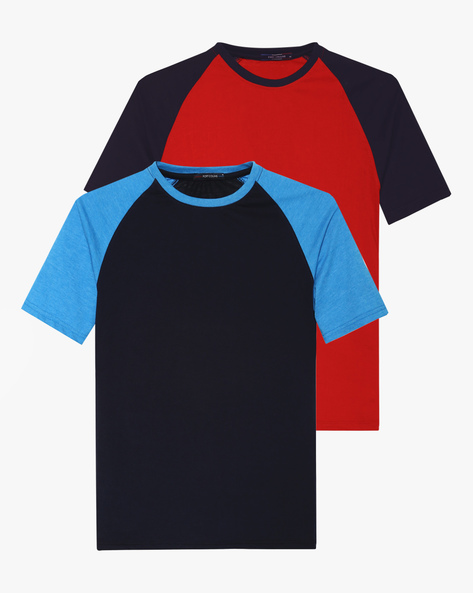 Pack Of 2 Colourblock T-shirts By Fort Collins ( Multicolour )