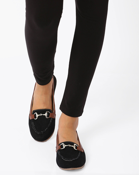 Loafers With Metallic Detail By Carlton London ( Black )