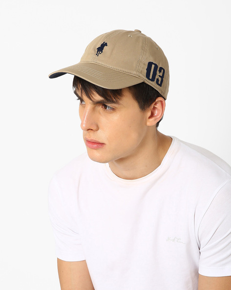 Baseball Cap With Embroidered Branding By Feathers ( Khaki )