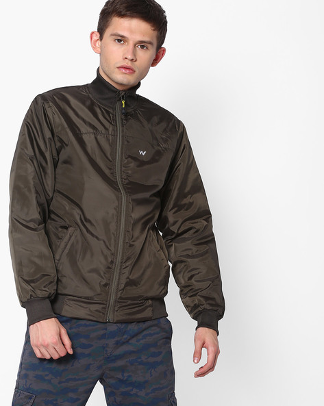 Azi Zip-Front Light Quilt Jacket By Wildcraft ( Olive )