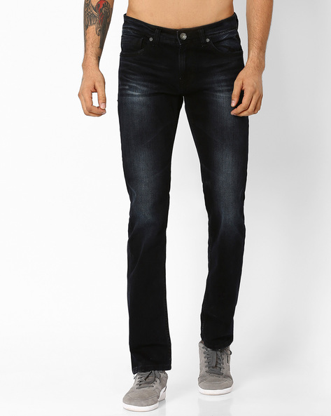 4184 Lightly Washed Slim Fit Jeans By Killer ( Assorted )