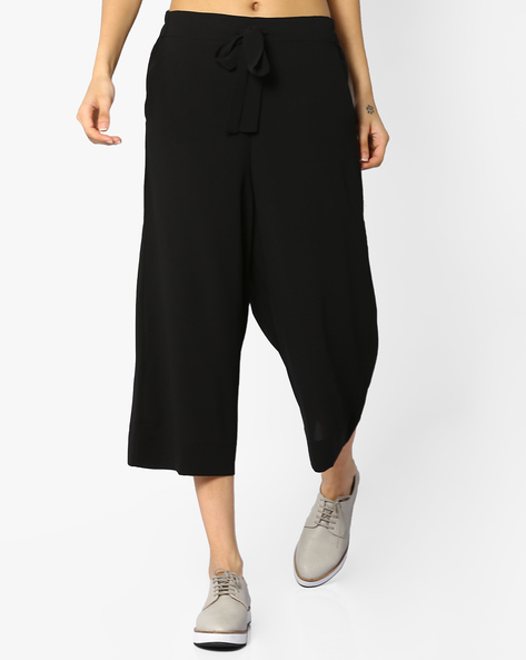 Culottes With Tie-Up By CODE By Lifestyle ( Black )