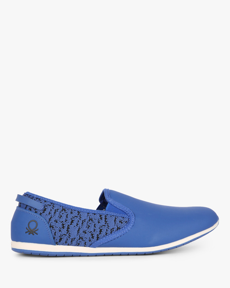 Panelled Slip-On Shoes With Mesh Quarter By UNITED COLORS OF BENETTON ( Blue )