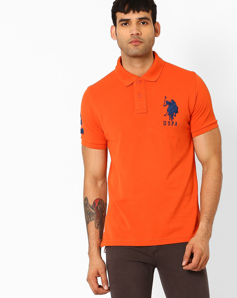Slim Fit Polo T-shirt By US POLO ( Peach )