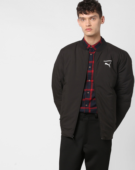 Front-Zip Padded Jacket By Puma ( Black )