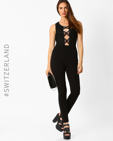 Milano Jumpsuit With Lace By TALLY WEiJL ( Black )