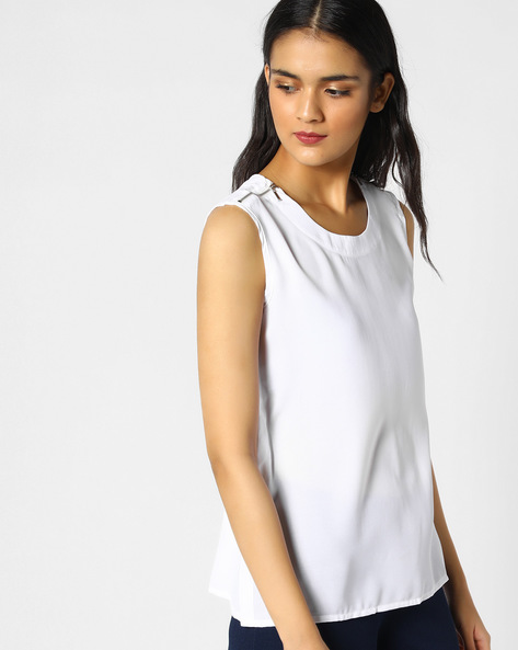 Top With Shoulder Zippers By PE WW Casual ( Offwhite )