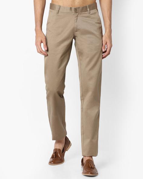 Slim Fit Chino Trousers By VIMAL APPARELS ( Khaki )