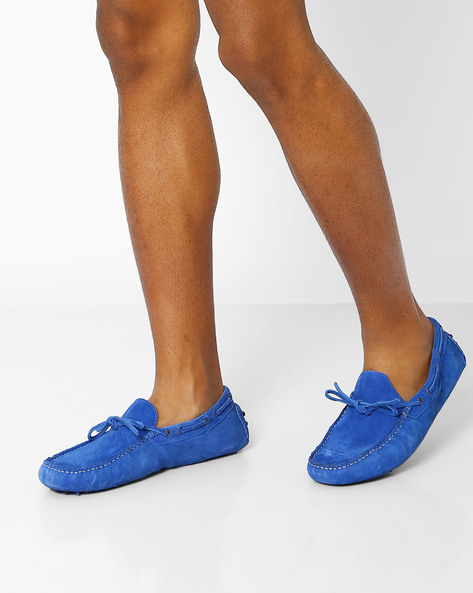 Genuine Leather Casual Shoes By AJIO ( Darkblue )