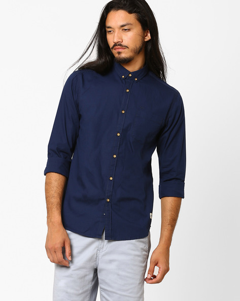 Slim Fit Cotton Shirt By FLYING MACHINE ( Assorted ) - 440720149003