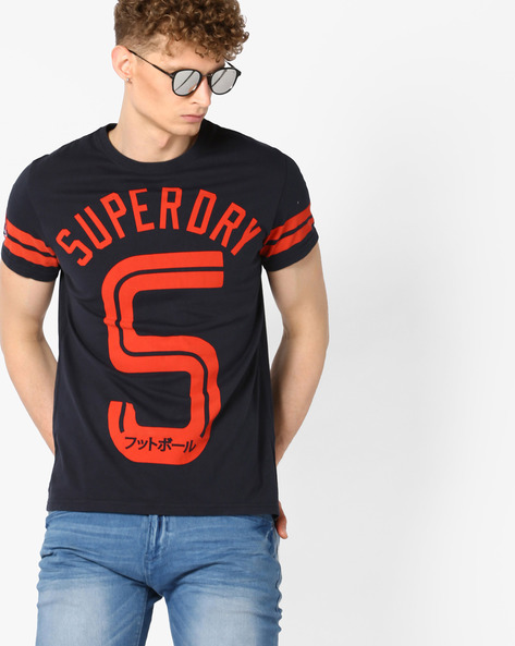 Soccer Print Crew-Neck T-shirt By SUPERDRY ( 98t )