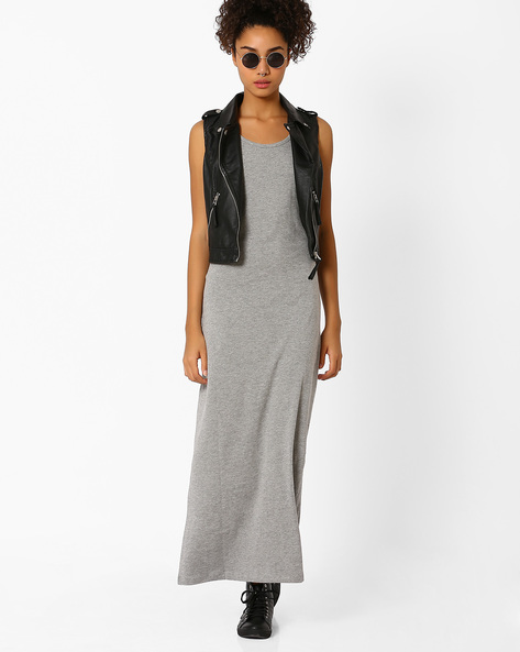 Sleeveless Maxi Dress By Vero Moda ( Grey )
