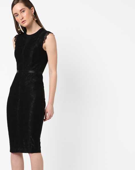 Bodycon Lace Dress By MDS ( Black )