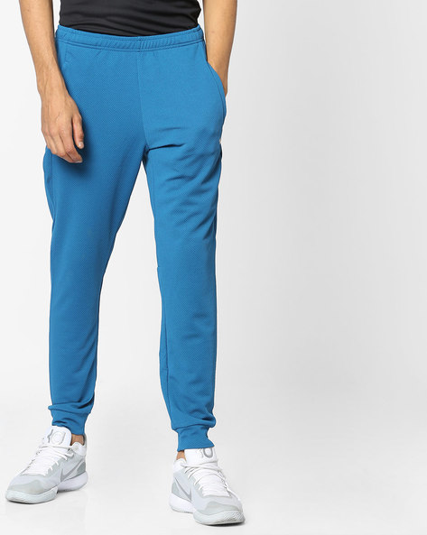 Mid-Rise Joggers With Elasticated Waistband By Wildcraft ( Blue )