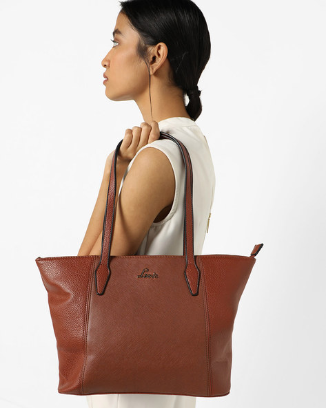Maks Textured Tote Bag By Lavie ( Tan )