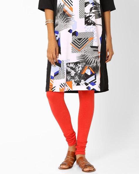 Cotton Leggings By W ( Orange )