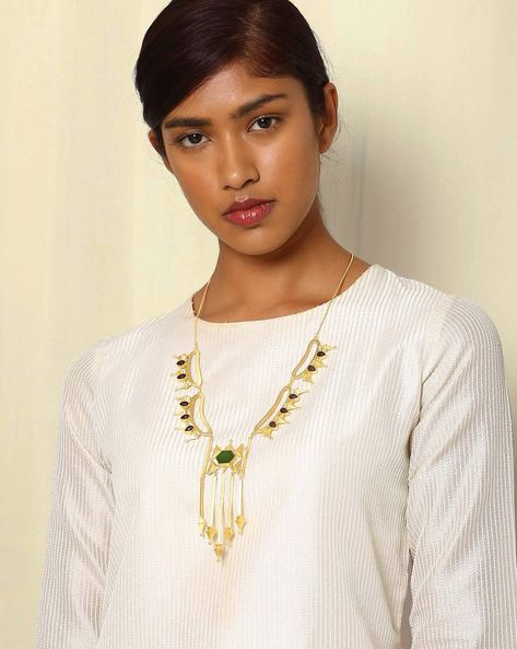 Gold-Plated Statement Necklace By Indie Picks ( Multi )