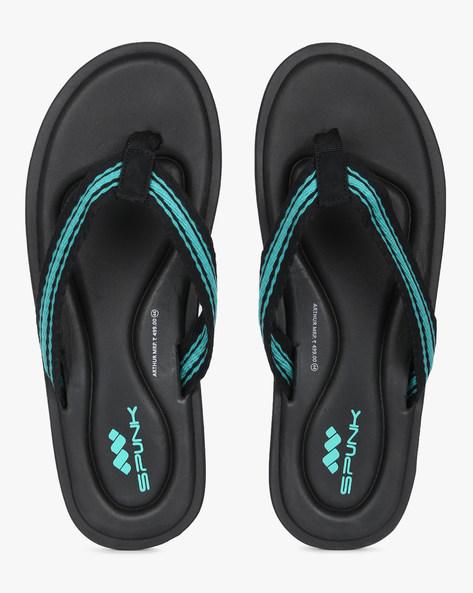 Flip-Flops With Contrast Straps By Spunk ( Black )