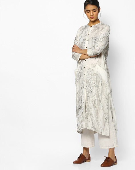 Printed Straight Kurta By Project Eve IW Casual ( Offwhite )