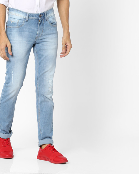 Mid-Rise Slim Fit Jeans By FLYING MACHINE ( Blue )