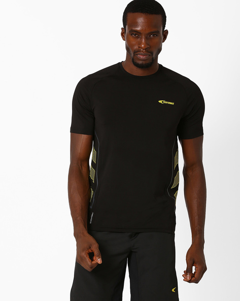 Crew-Neck T-shirt With QuickDry By PERFORMAX ( Black )