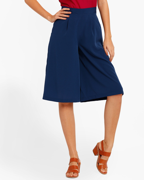 Flared Culottes By Oxolloxo ( Blue )
